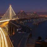 First Place: The eastern span of the San Francisco–Oakland Bay Bridge in Yerba Buena, California. By Frank Schulenburg.